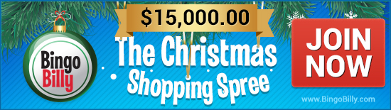 Bingo Billy Cristmas shopping spree